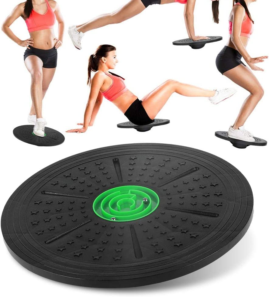 Wobble Balance Board 36cm Non-Slip Yoga Rotation Stability Disc Workout