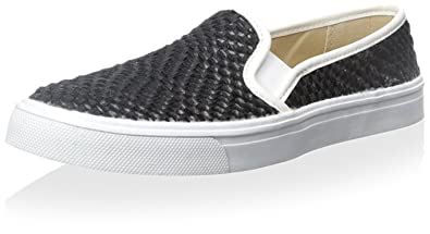 Women's Dolce Vita Saraya Black Weaved Slip-on Shoes Size 8.5 M