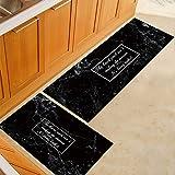 Tapete de chão antiderrapante padrão de estampa de mármore estilo nórdico confortável para cozinha, sala de jantar, mármore p