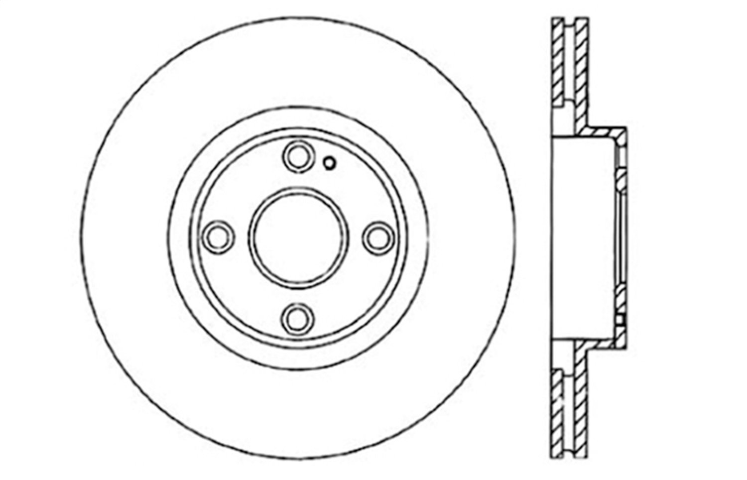 1 Pack StopTech 128.45061R Sport Cross Drilled Brake Rotor Front Right