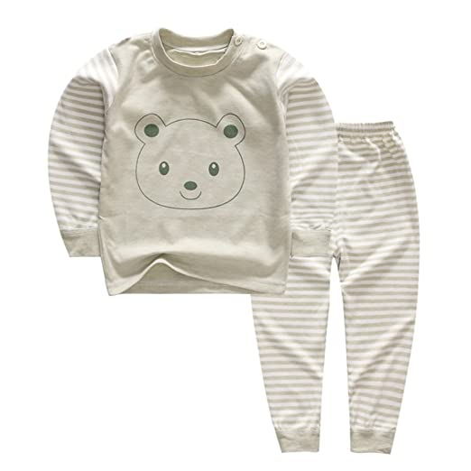 f4ad983c3 Amazon.com  YANWANG 100% Organic Cotton Baby Boys Girls Pajamas Set ...