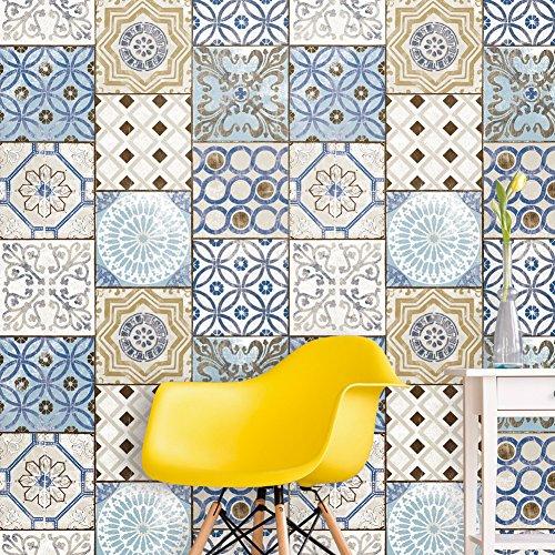 3113 Moroccan Style Mosaic Wallpaper Rolls, Vinyl Tile Wallpaper Kitchen Livingroom Bathroom Bedroom Hotels Wall Decoration 20.8