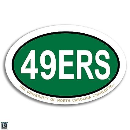 Amazoncom Unc Charlotte 3 49ers Oval Logo Magnet Sports Outdoors