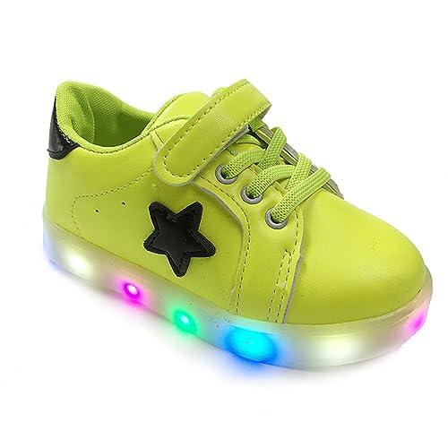 OULII Zapatos LED Para Niños Zapatillas con Luces Zapatillas de Deporte Para Los Niños Niñas -