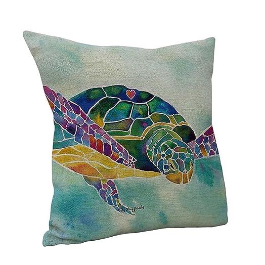 Diy Turtle Pillow Case: Nunubee 45*45CM Linen Cotton Throw Pillow Case Sofa Pillowcases    ,