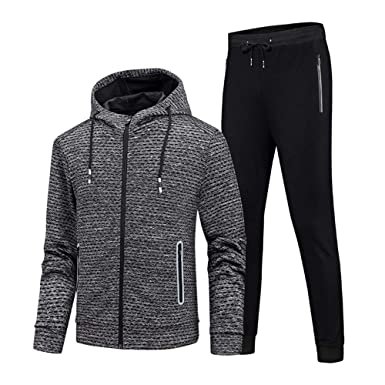 GEEK LIGHTING Men s Athletic 2 Piece Track Suits Set at Amazon Men s ... 712f148cf70e