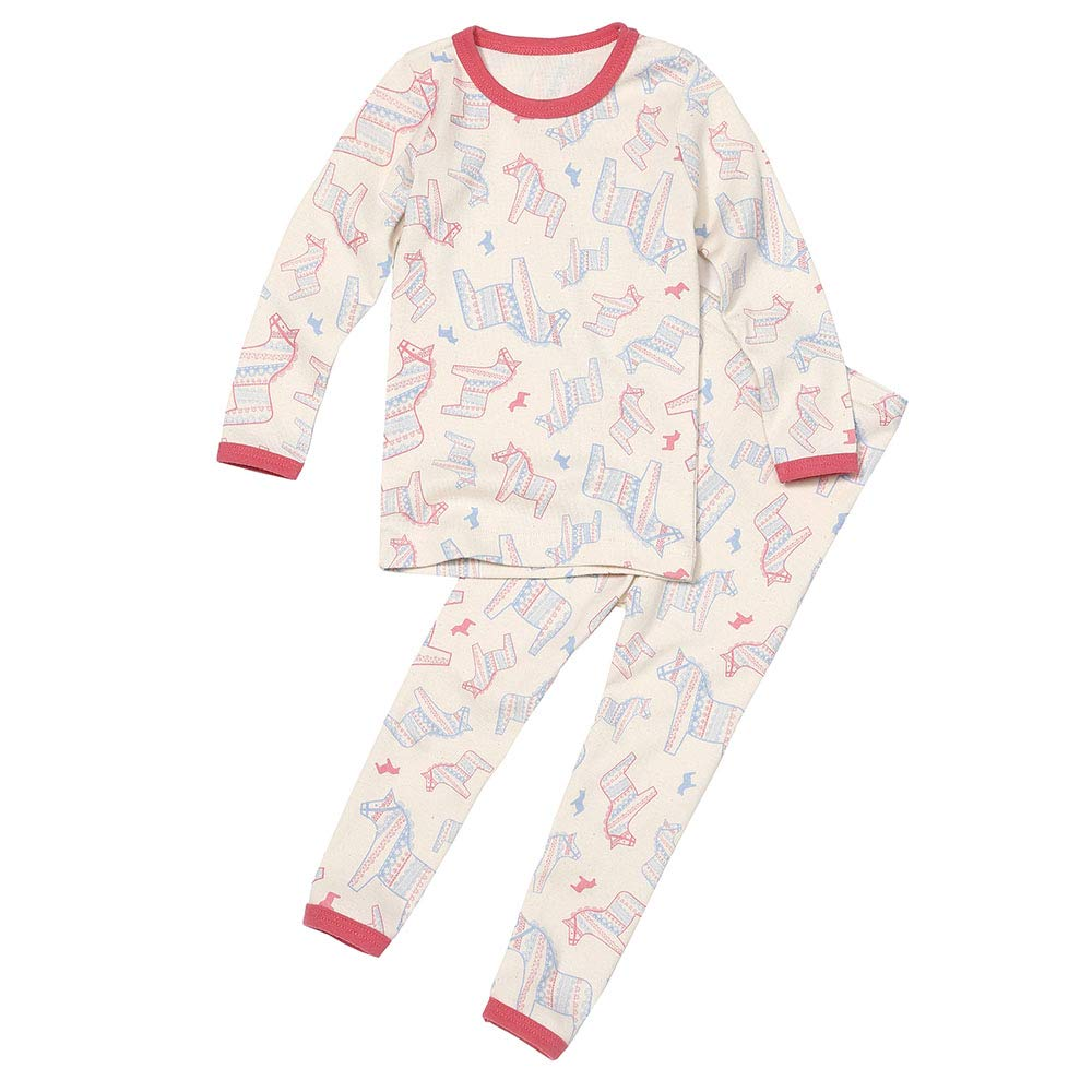100/% Organic Cotton Sleepwear WithOrganic 2-Piece Kids Pajamas Sets