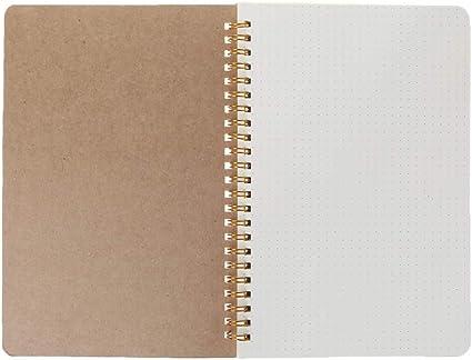 Qianqian56 - Cuaderno A5: cuadriculado, con renglones, con renglones de puntos, en blanco, ideal para la gestión del tiempo, agenda semanal, material escolar y de oficina, color 01.: Amazon.es: Oficina y papelería