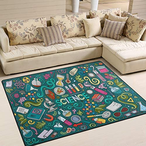 ALAZA Science Chemistry Area Rug Rugs for Living Room Bedroom 5 3 x4