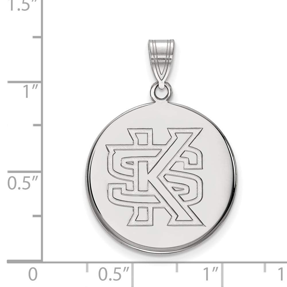Roy Rose Jewelry Sterling Silver LogoArt Kennesaw State Large Disc Pendant