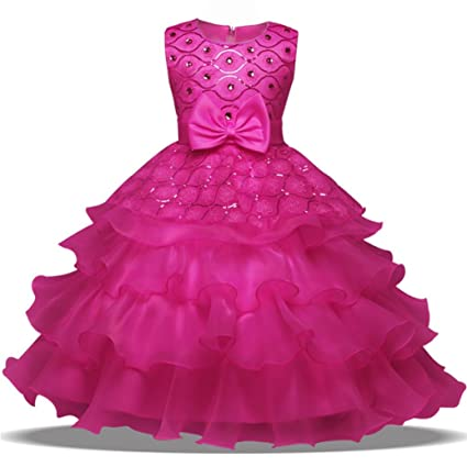 Amazon.com: Starxin Flower Baby Girl Princess Bridesmaid Pageant ...