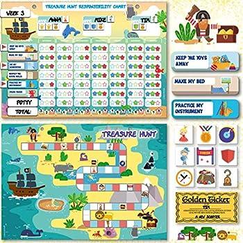 Amazon.com: Behavior Chore Reward Chart for Multiple Kids