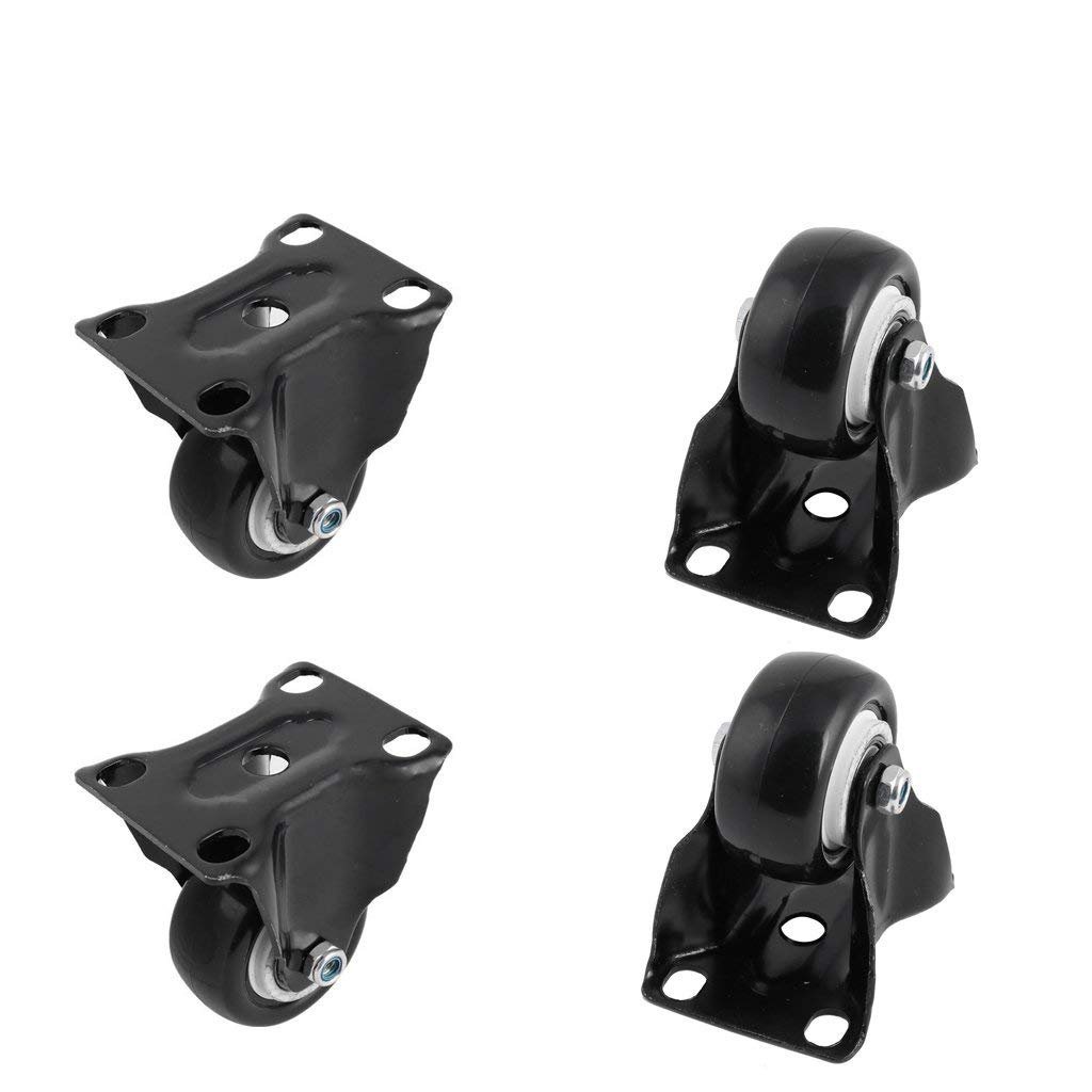 ZXHAO Heavy Duty Rigid Fixed Top Plate Caster wheels 4pcs 2 inch