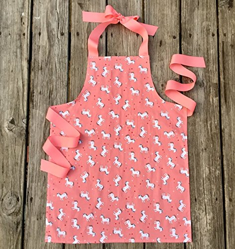 Unicorn Kitchen or Craft Apron for Tween Girls from Sara Sews
