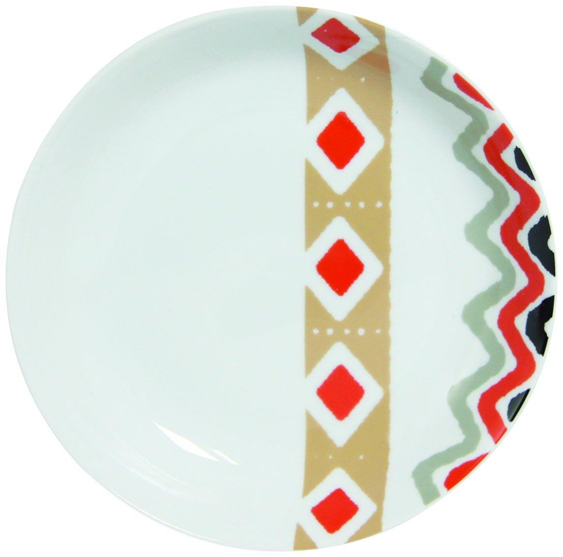 8010340 Novastyl Motivo Di Design Con 6 Pezzi Di Piatti In Porcellana 22 X 4 Cm