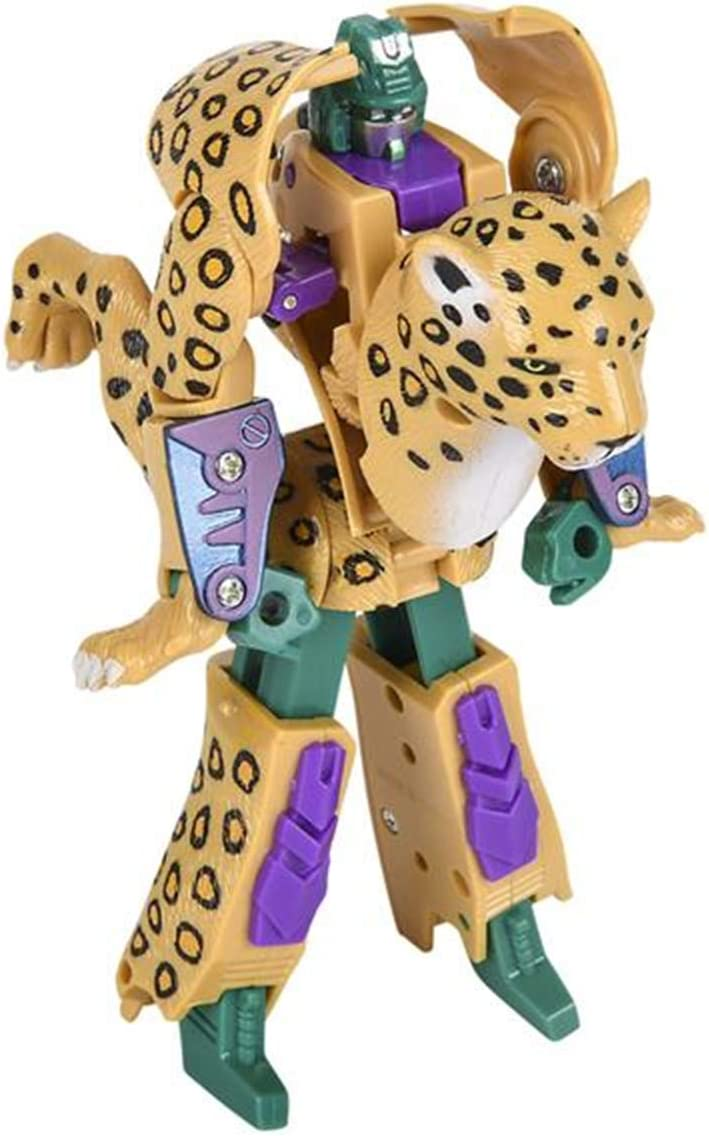 "4/"" Leopard Robot Action Figure Transformers Kids Toys"