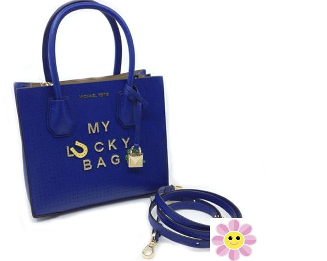 [MICHAEL KORS] (マイケルコース) Mercer Messenger レディース サッチェル トート バッグ 鞄 Ladies Satchel Tote Bag in Electric Blue [並行輸入品] B07BFBCQJV