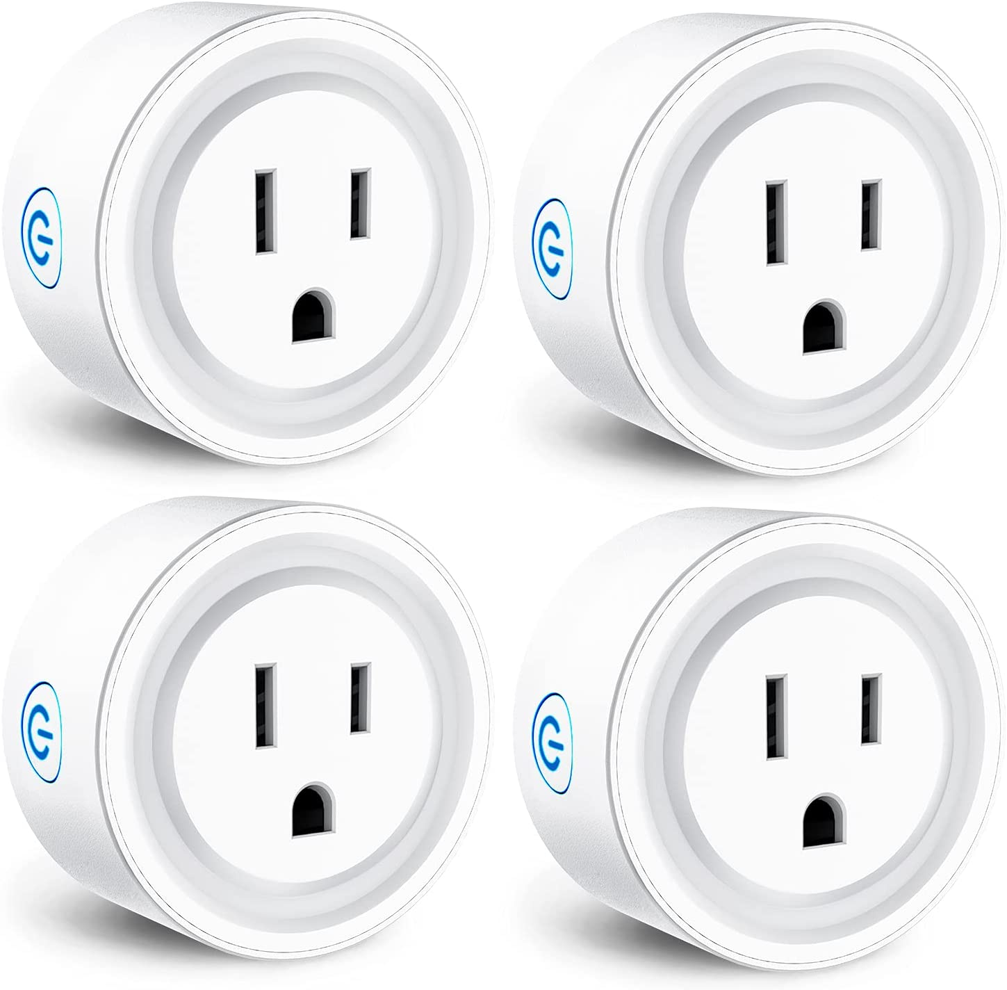 Smart Plug(10A, 100-240V), Svipear WiFi Socket Compatible with Alexa, Google Home, No Hub Required, Remote Control Your Home Appliances from Anywhere, Only Supports 2.4GHz Network(4 Pack)