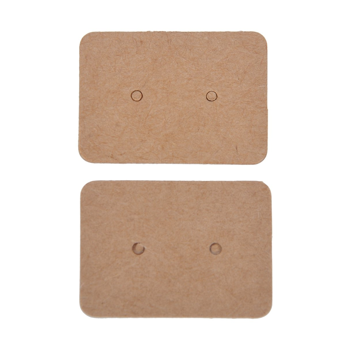 HooAMI 100PCS Brown Plain Earring Jewellery Display Cards35mmx25mm Terrific-Young BETY133492