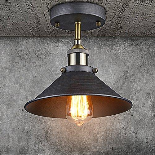 Vintage kitchen light fixtures ceiling amazon claxy ecopower industrial mini edison ceiling light 1 light workwithnaturefo