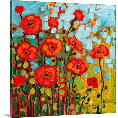 Red Poppy Field Canvas Wall Art Print, 20