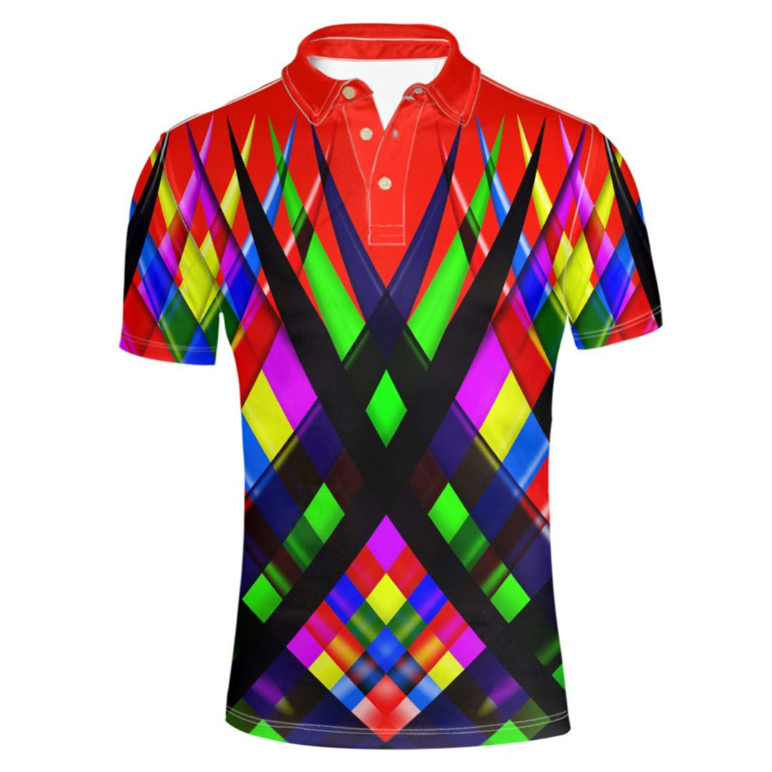 Men Summer Shirt Bright Color Short-Sleeve Shirts