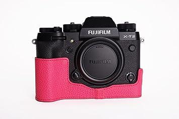 BolinUS Funda para cámara X-T3, Hecha a Mano, de Piel auténtica ...