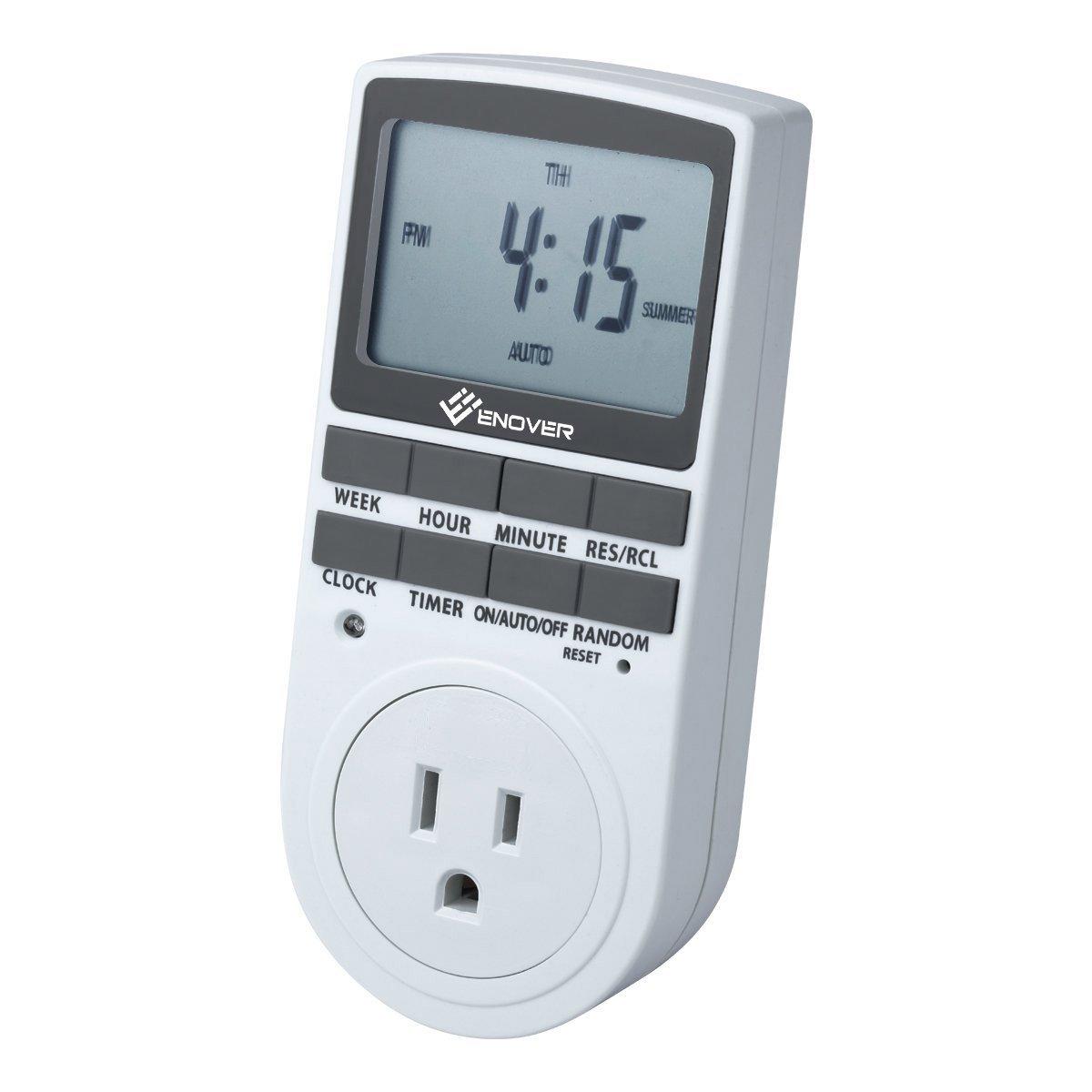 ge 15154 digital timer with 1 polarized outlet. Black Bedroom Furniture Sets. Home Design Ideas