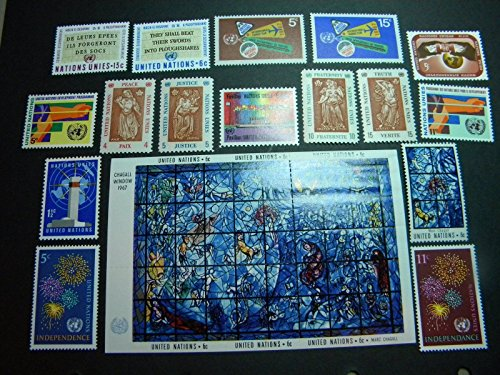 - United Nations (NY) Stamps 1967 Complete Year Set Mint Singles NH #164-180 + #179 SS