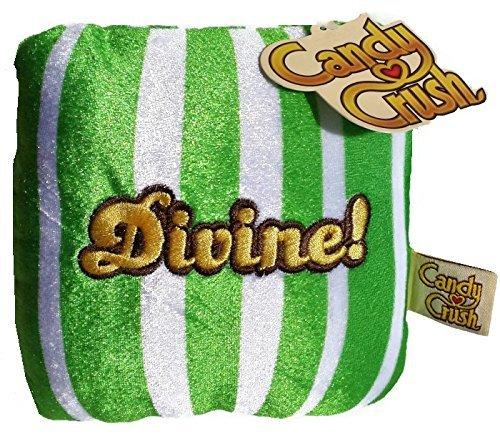 Green Chiclet Striped Divine King Candy Crush Saga Plush 5 Inch Basic Plush (Candy Crush Color Bomb compare prices)