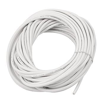 sourcingmap® 15 m Länge 18 AWG 20 KV-weiße Flexibel verseilte Kabel ...