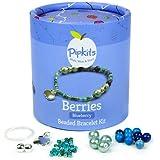 Pipkits Berries Beaded Bracelet Jewellery Making Kit in Blueberry by Pipkits