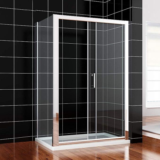 Duschkabine 120x80cm Rechteck Schiebetür Duschabtrennung Seitenwand links//rechts