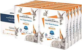 product image for Hammermill Printer Paper, Fore Multipurpose 20 lb Copy Paper, 8.5 x 11-10 Ream (5,000 Sheets) - 96 Bright, Made in the USA