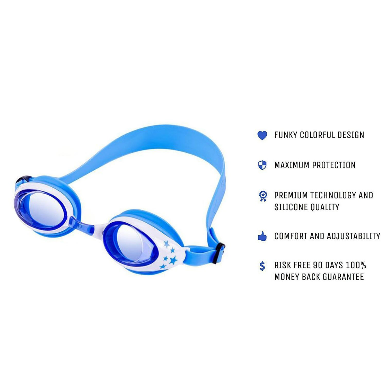 Boxalls Kids Swim Cap Swimming Goggles with 3 Adjustable Nose Bridge /& Protected Anti-Fog and Ear Plugs for Age 5 to 12 yrs Pink Swimming Goggles with 3 Adjustable Nose Bridge /& Protected Anti-Fog and Ear Plugs for Age 5 to 12 yrs Blue