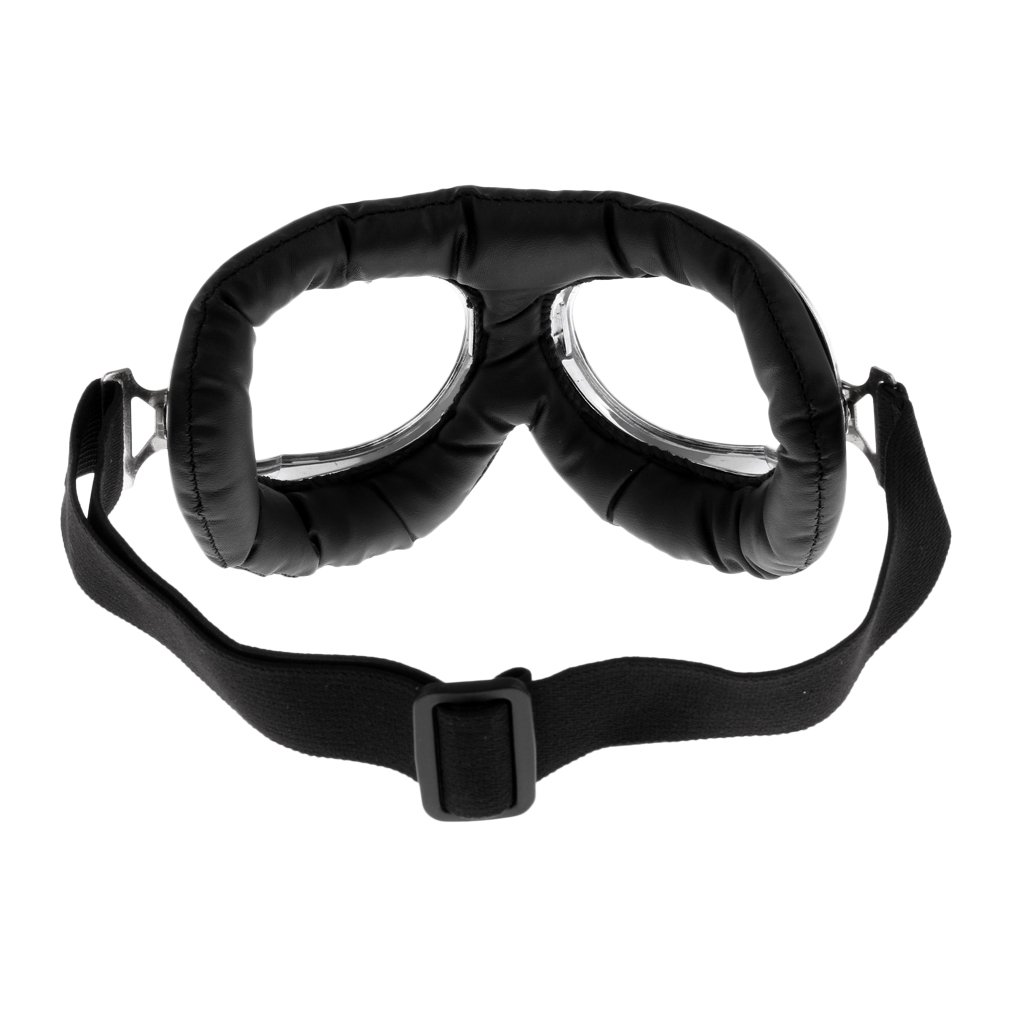 Adjustable Strap for Adults Cycling Motocross Transparent Lens MonkeyJack Motorcycle Goggles ATV Dirt Bike Racing Goggle Anti-Scratch Dust Proof Glasses Eyewear with Padded Soft Foam