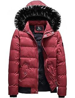 Damen warm WinterJacke Dick mantel daunen Jacke 100/% Echt Fell Stickerei Parka