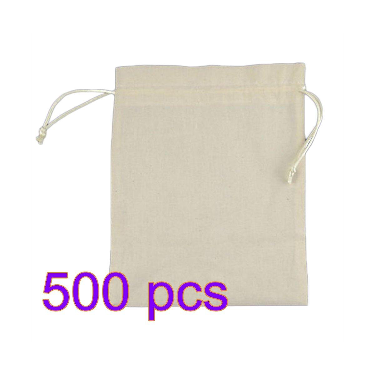 Leisial™ 500 Stücke Natur Jutesäckchen 18*22cm Leinen-Säckchen Perfekt für Lavendelblüten -Schmuck 18*22CM