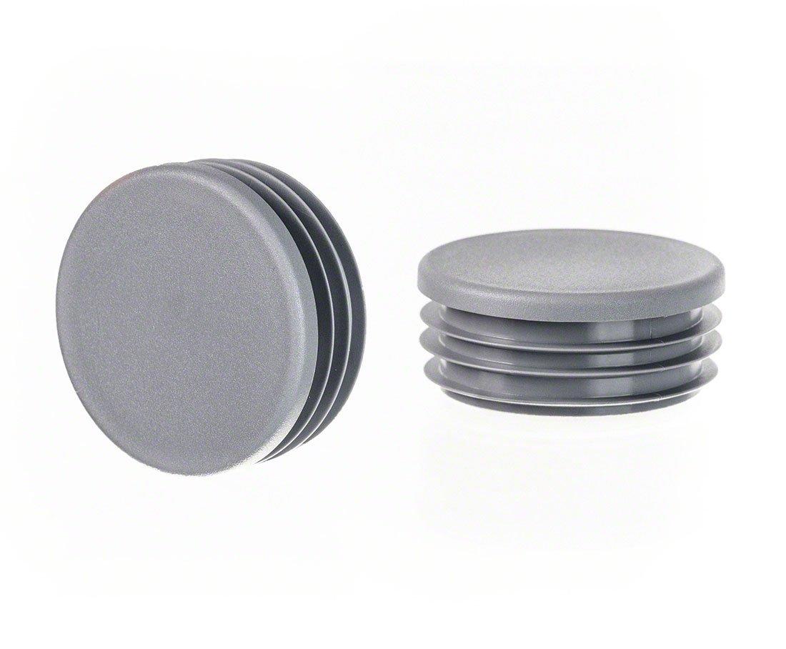 Rundstopfen 28 Grau Kunststoff Lamellenstopfen Abdeckkappe 10 Stck