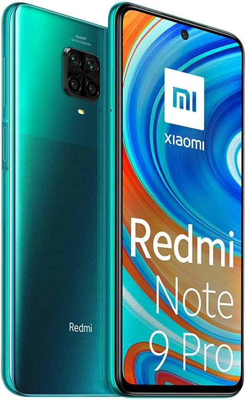 Xiaomi Redmi Note 9 Pro - 128GB + 6GB RAM, 4G, Dual Sim, Tropical Green