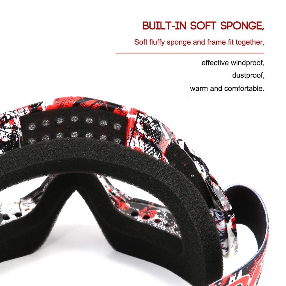 todoterreno cortavientos gafas de esqu/í default color8 gafas de carreras motocross Gafas de protecci/ón antinieve