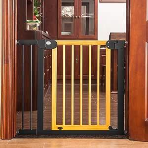 AA-SS-Safety Door Viaje Puerta de Seguridad Beechwood Bebé Barra de Seguridad para niños Bar Escalera para bebés Cerca del Animal doméstico Cerca del Perro Cerca del Aislamiento sin Golpes: Amazon.es: Hogar