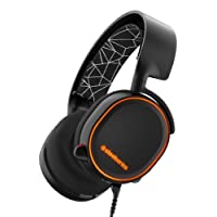 SteelSeries Arctis 5, Gaming-Headset, RGB-Beleuchtung, DTS 7.1 Surround für PC, PC / Mac / PlayStation 4 / Android / iOS / VR, Farbe Schwarz