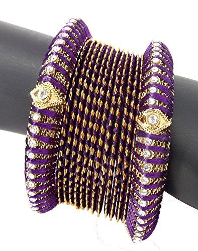 Purple Silk Thread Bracelet - 8