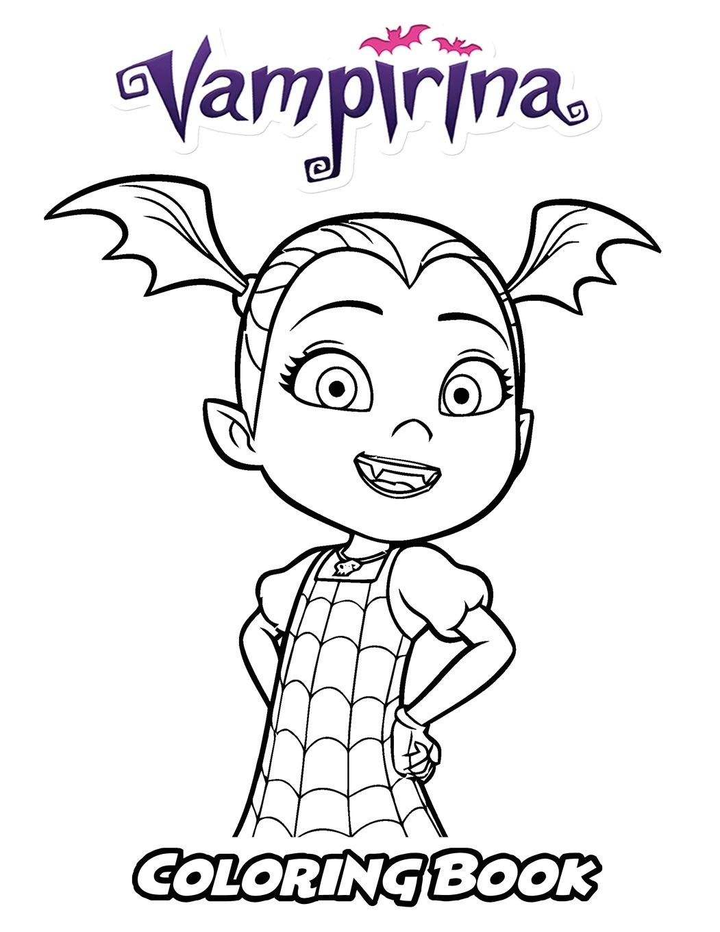 Vampirina coloring book coloring book for kids and adults activity book with fun easy and relaxing coloring pages perfect for children ages 3 5 6 8