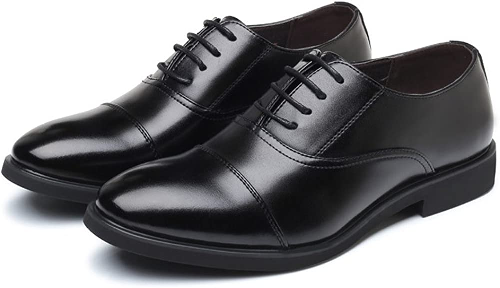 MXL Mens PU Leather Formal Business Oxfords Lace Up Wedding Dress Shoes Breathable