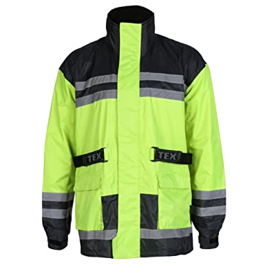 Texpeed Hi-Vis Waterproof Motorcycle Rain Over Jacket - M-5XL ... 216b1ebdd