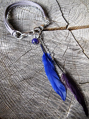 'Spirit' - Leather and Feather Bracelet ~ Feather Bracelet ~ Women's Leather Bracelet (Spirit Strand Bracelets)