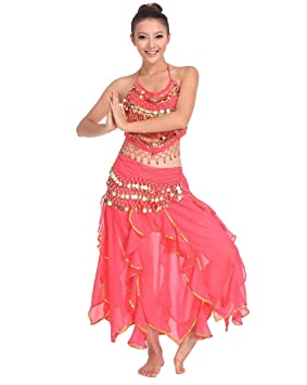 Grouptap Bollywood Rosa Rojo asiático Indio árabe jazmín Vestido ...