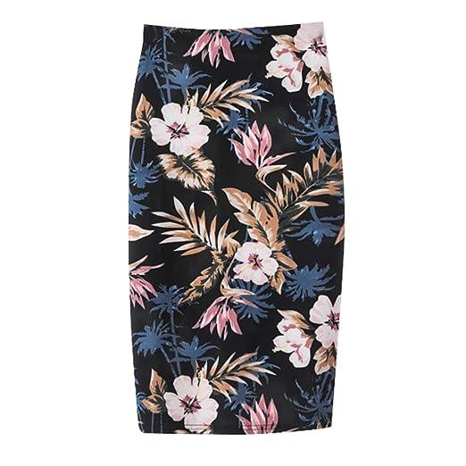 3b0190b18a LEERYAAY Top&Underwear Ladies Summer Fashion Trend Comfortable Casual Bag  Hip Skirt Print Skirt Skirt Black